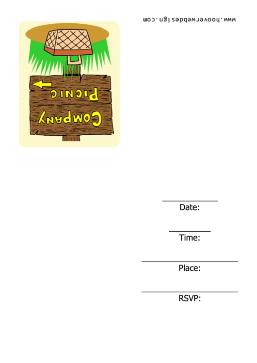 Company Picnic Invitation Template Printable pdf