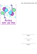 Out Of Jall Party Invitation Template