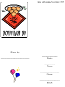 Asian Party Invitation Template