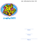Luau Party Invitation With Floral Shirt Template