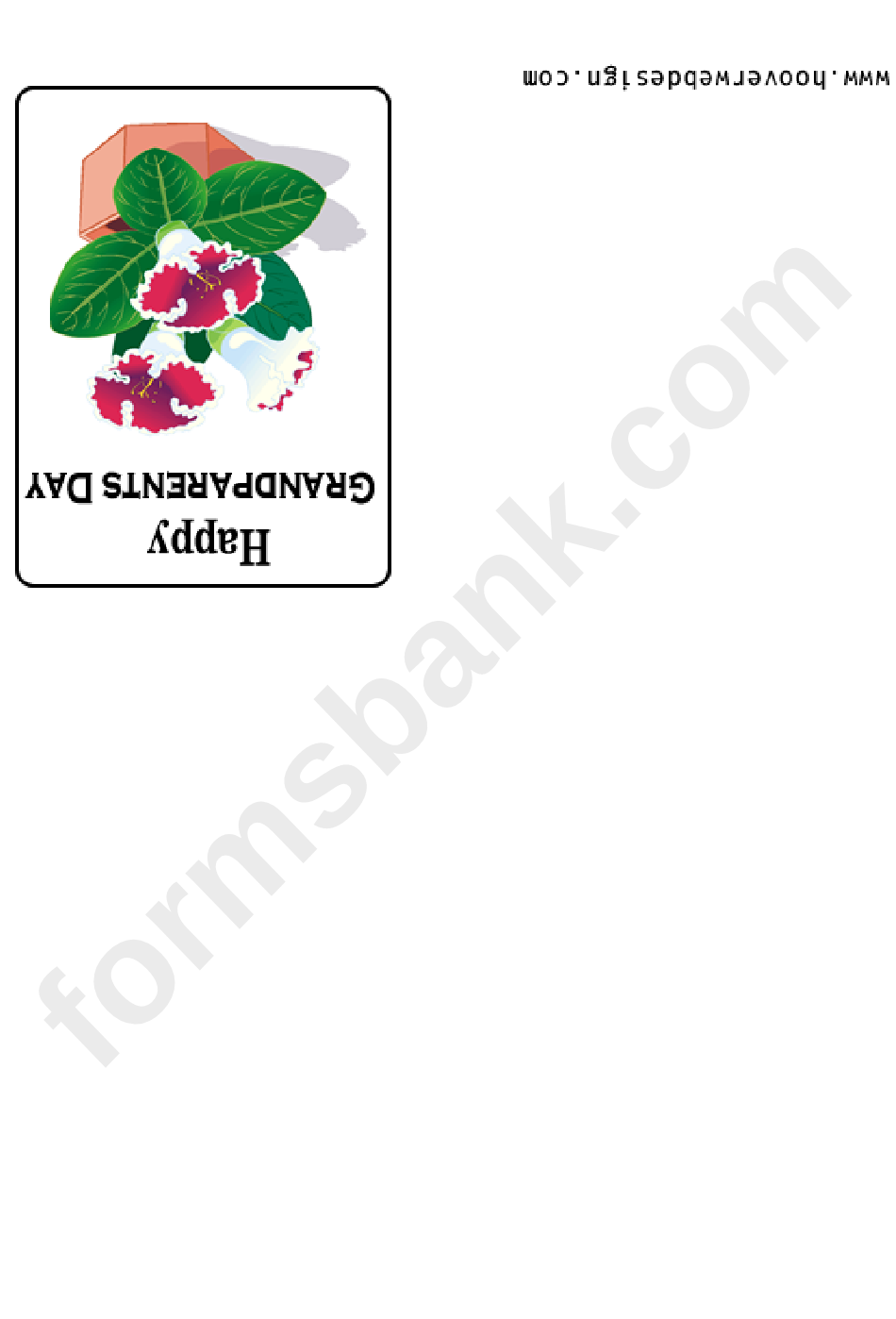Happy Grandparents Day Greeting Card Template