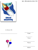 Space Birthday Party Invitation Template
