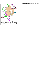 Greeting Card From Baby Template