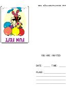 Fun Fest Invitation Template