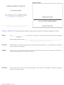 Form Mllc-17 - Statement Of Correction