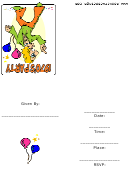 1970's Theme Party Invitation Template