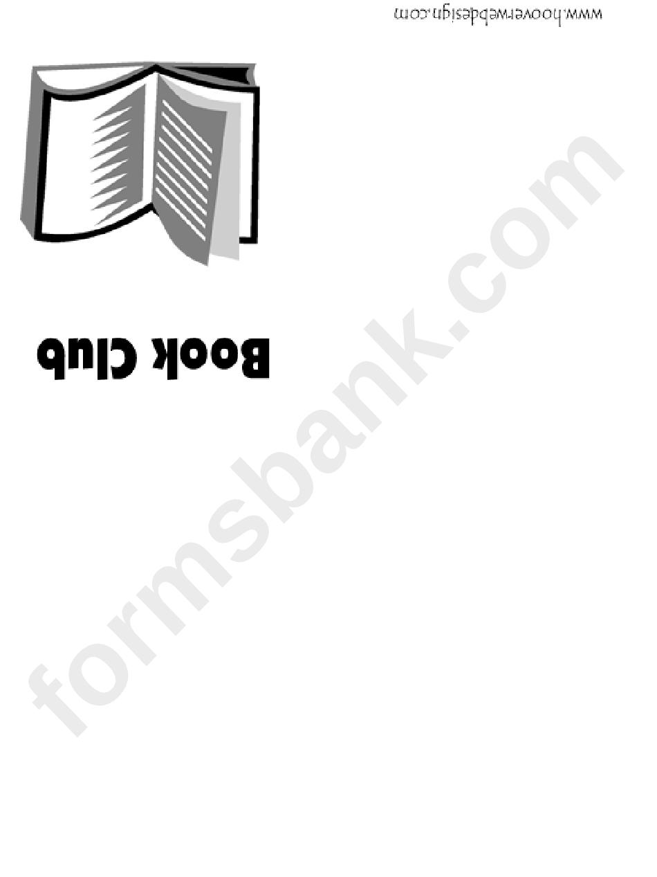 Book Club Invitation Template