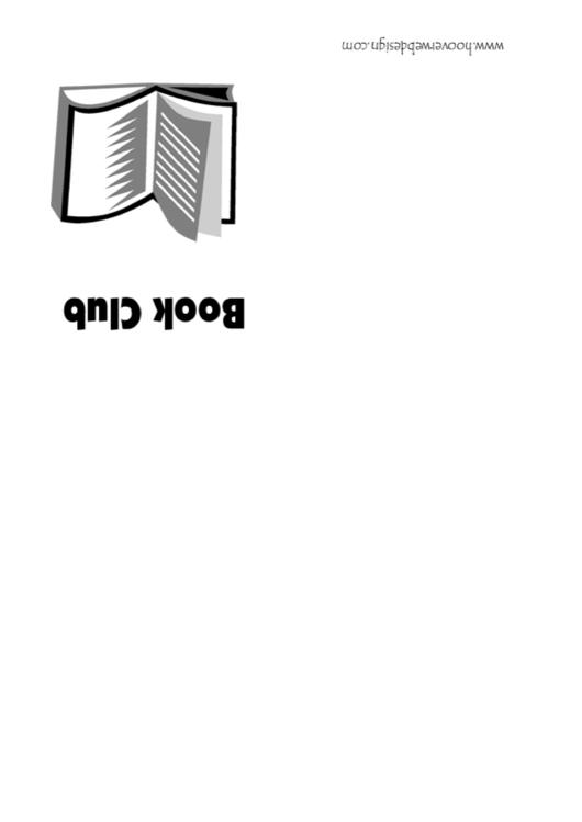 Book Club Invitation Template Printable pdf