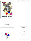 80's Party Invitation Template