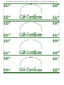 Printable Gift Certificates