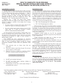 Instructions For Form Rv-2 - 2008