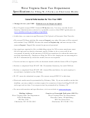 Form Wv/it-105 - Specifications For Filing W-2 Forms On Electronic Media - State Of West Virginia