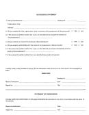 Successor's Statement Form