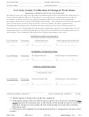 La Crosse County Certification Of Change In Work Status