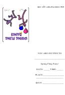 School Spring Fling Dance Party Invitation Template