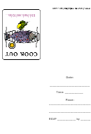 Cookout Party Invitation Template