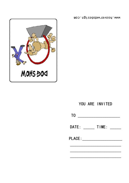 Dog Show Invitation Template Printable pdf