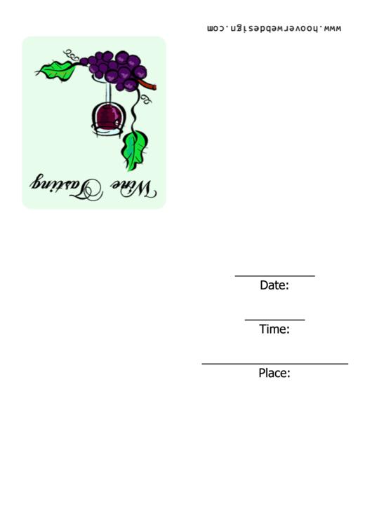 Wine Tasting Invitation Template Printable pdf