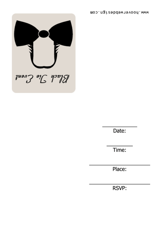 Black Jie Event Invitation Template Printable pdf