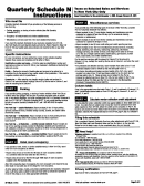 Form St-100.5 - Quarterly Schedule N Instructions - Taxes On Selected Sales And Services In New York City Only