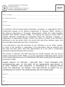 Form 5237 - Offer In Compromise Waiver - Missouri Department Of Revenue