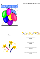 50th Birthday Party Template