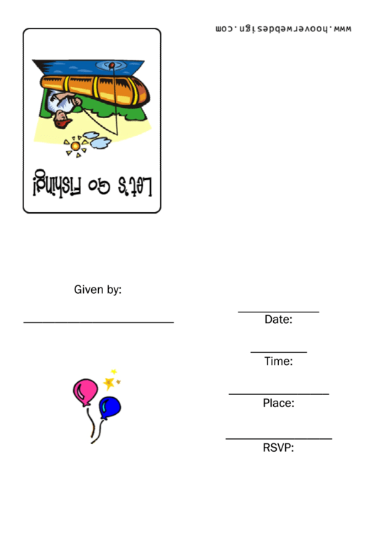 Fishing Invitation Template Printable pdf