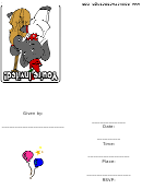 Animal Party Invitations Template