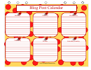 Blog Post Calendar Template