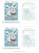 First Communion Banner Template