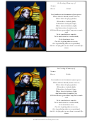 St. Francis Funeral Card Template