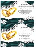 Matrimony Prayer Card Template