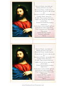 Jesus Holy Card Template