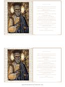 Prayer To St. Joseph Holy Card Template