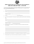 Employee Complaint Form - Level One
