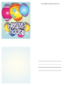 Eggs And Balloons Small Easter Card Template