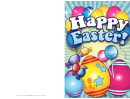 Eggs And Candy Easter Card Template