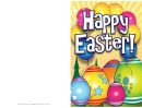 Eggs With Stars Easter Card Template