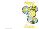 Colored Eggs Easter Card Template