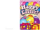 Eggs And Presents Easter Card Template