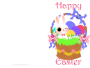 Colorful Basket Easter Card Template