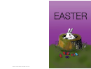 Bunny In A Stump Easter Card Template