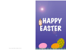 Chick And Eggs Easter Card Template