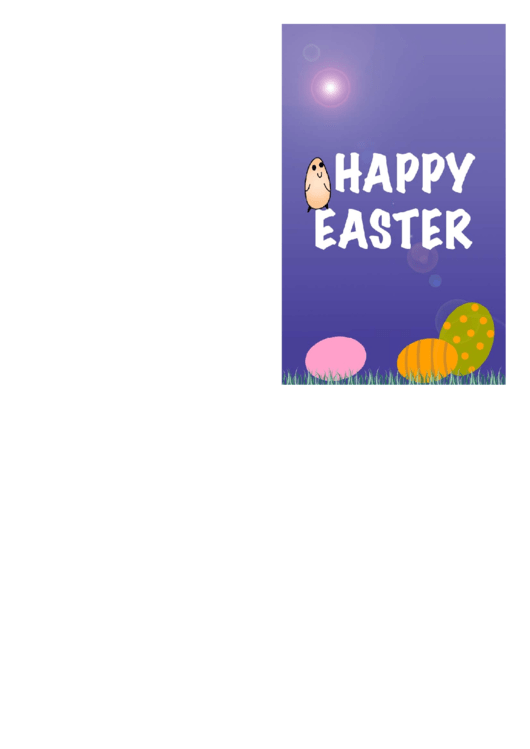 Chick And Eggs Easter Card Template Printable pdf