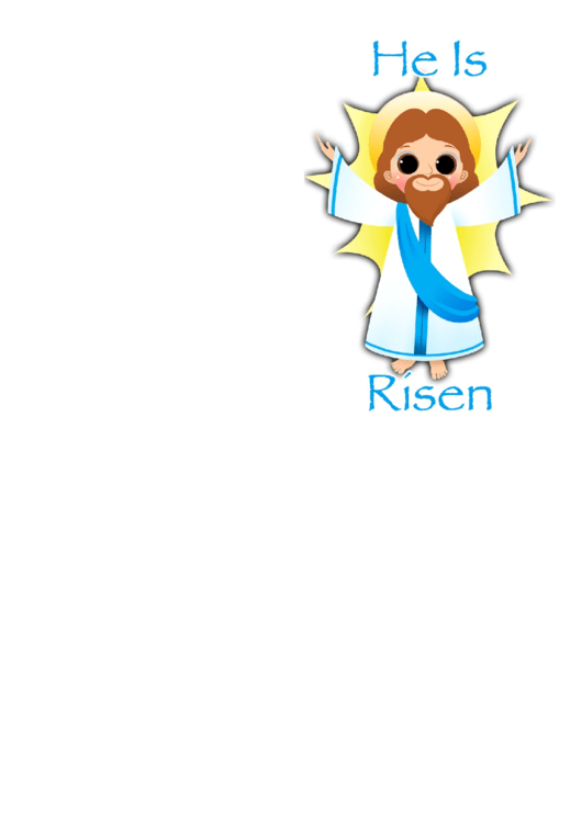 Jesus Easter Card Template Printable pdf