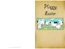 Chickens And Bunnies Easter Card Template