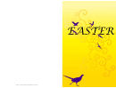 Pheasant Easter Card Template