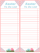 Easter To Do List Template