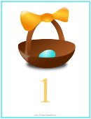 Easter Number 1 Template