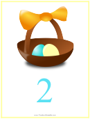 Easter Number 2 Template